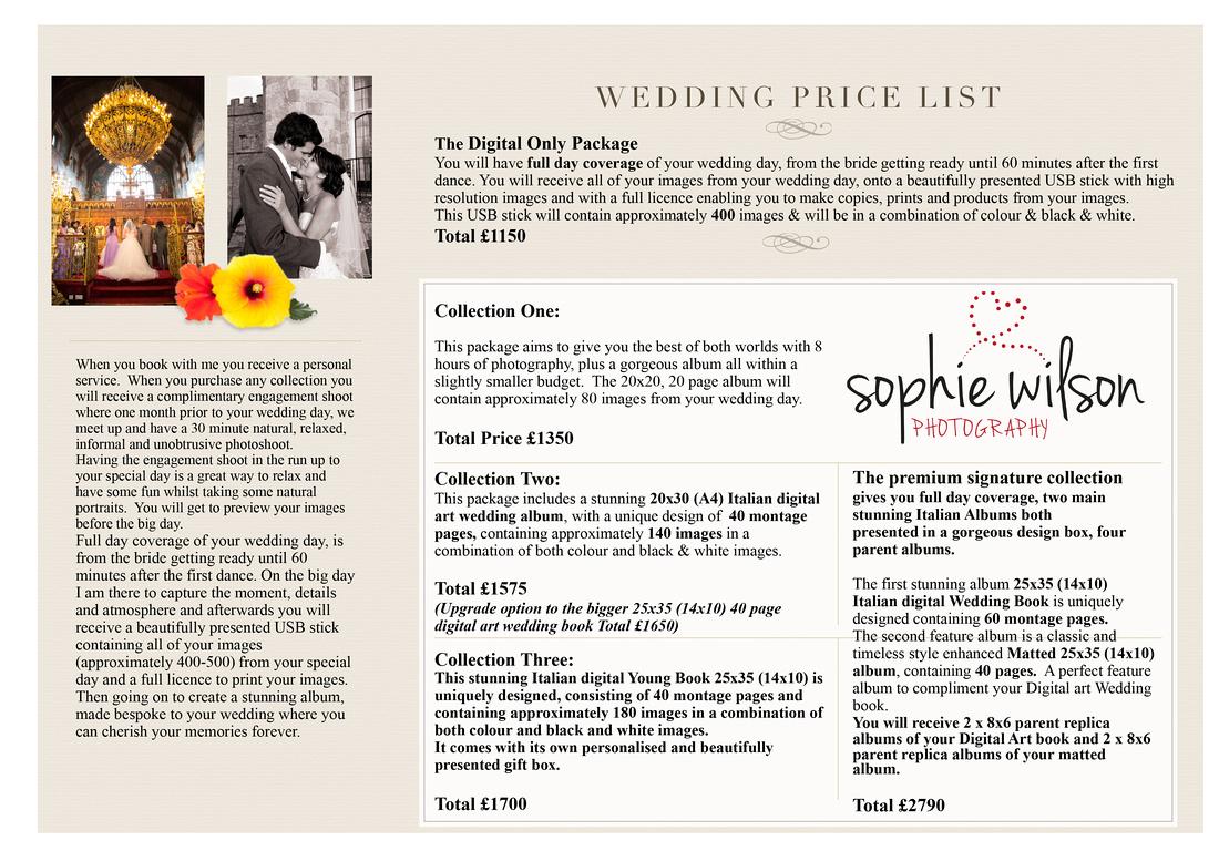 Wedding price list for website -1